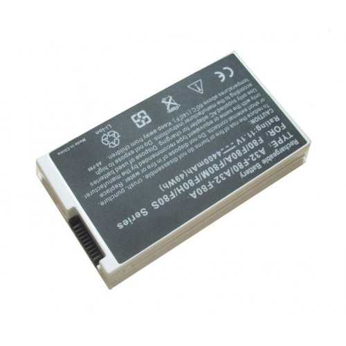 Asus F80, F81, F83, X61, X81, X82, X85, X88 Notebook Bataryası - Beyaz